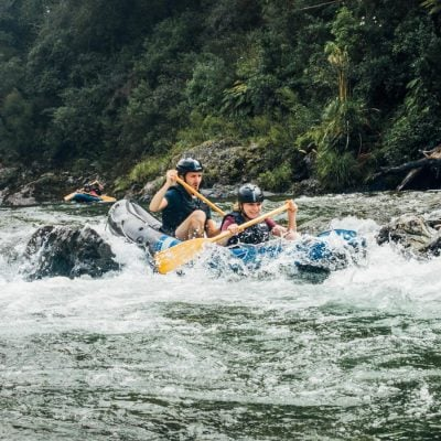 Kayak Rapids at the Pelorus River, NZ