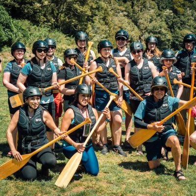Kayaking Group getting ready for our Hobbit Tour