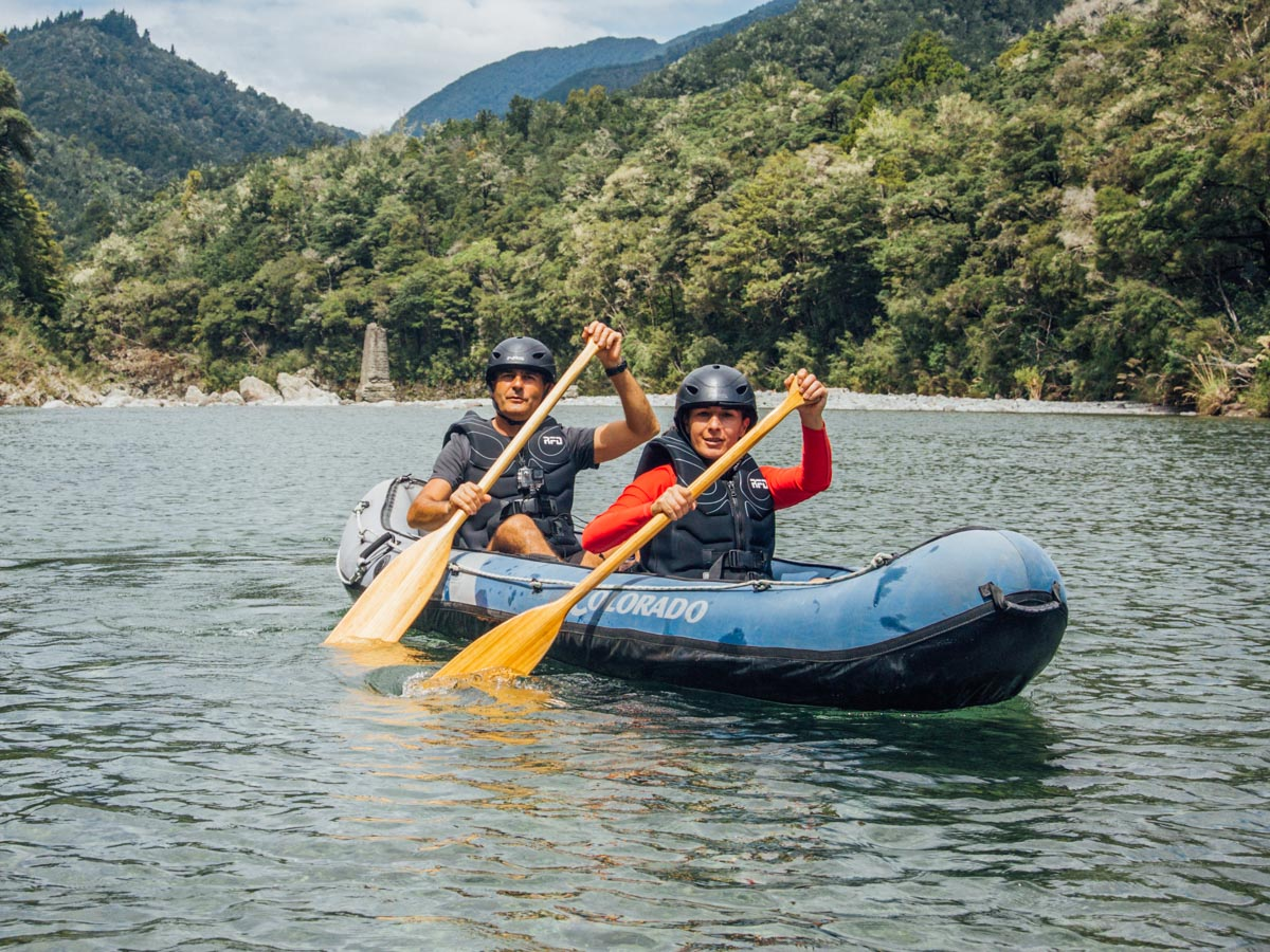 Kaaking the Pelorus River in New Zealand