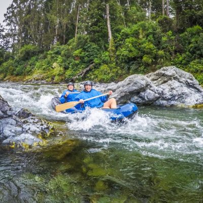 Kayaking Pelorus River Rapids