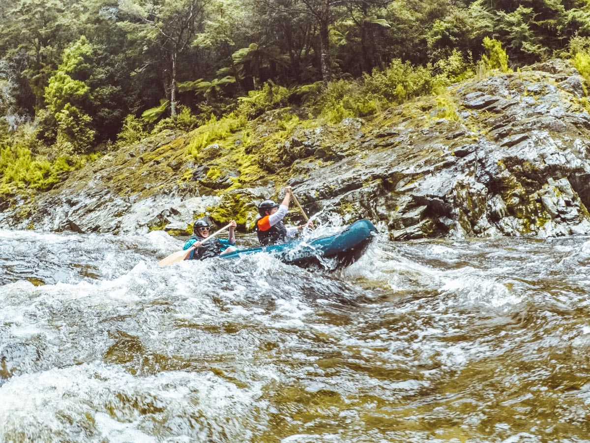 Kayaking Pelorus River Rapids in Havelock