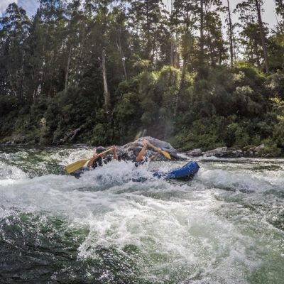 Kayaking Rapids in New Zealand