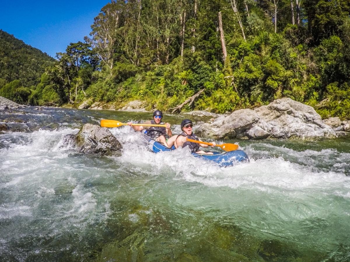 Kayaking Rapids at the Pelorus River