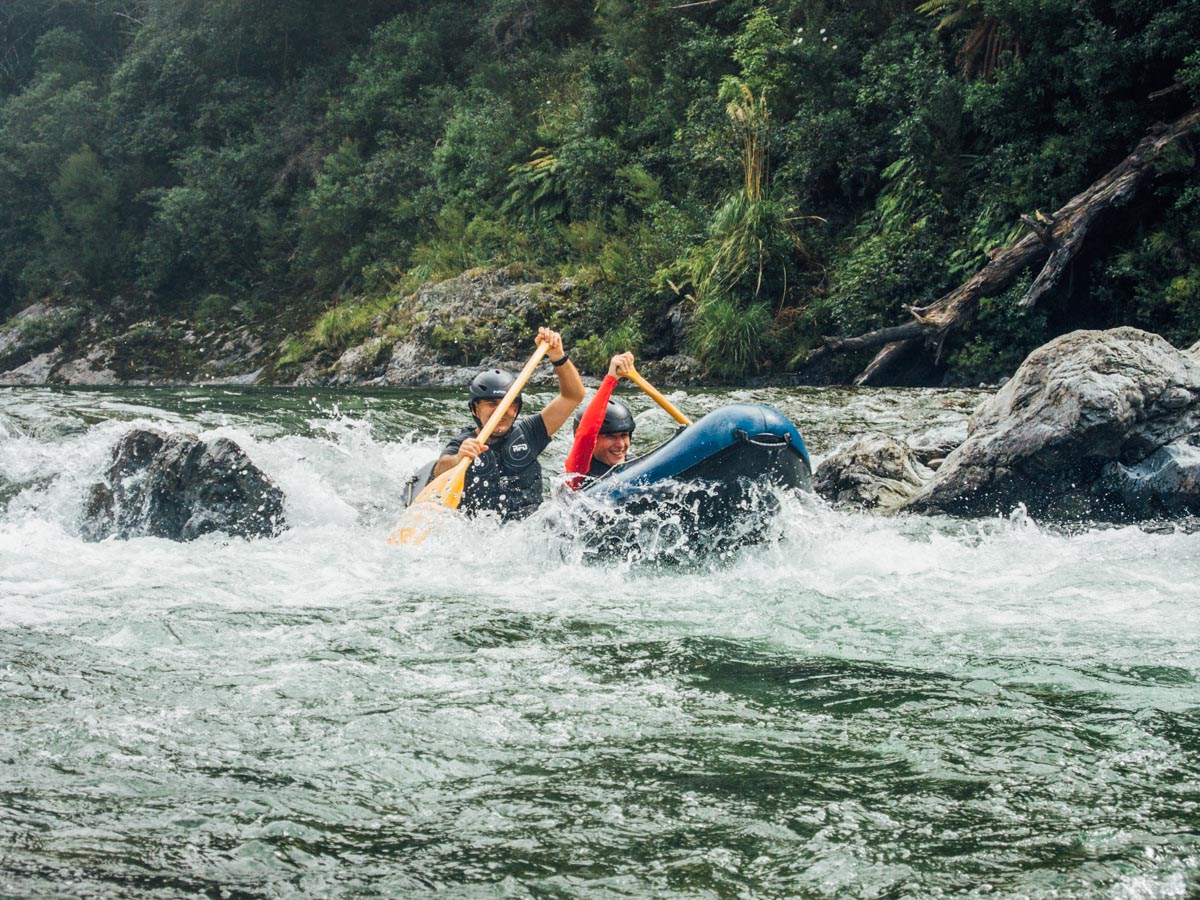 Kayaking Rapids at the Pelorus River, Havelock
