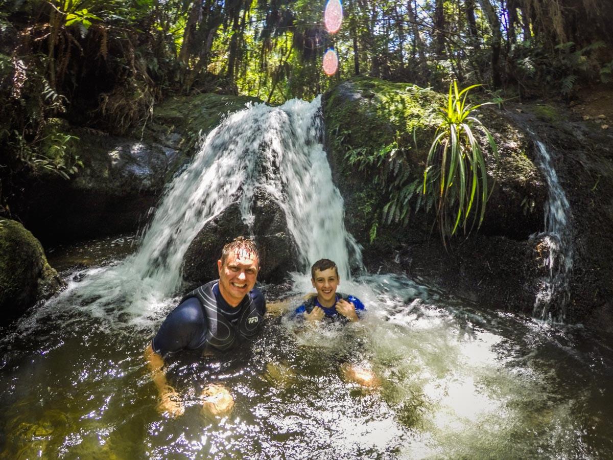 Natural pools at the Pelorus River