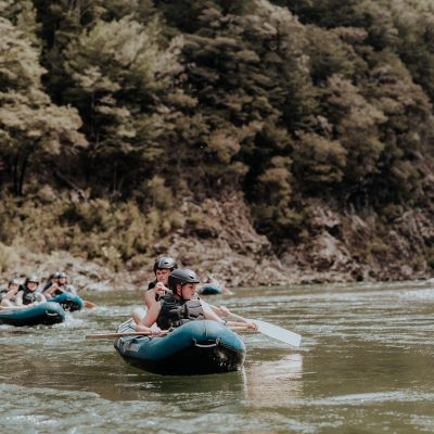 Children Kayaking in New Zealand