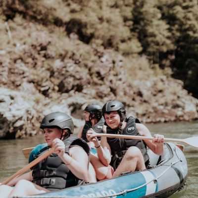 Children Kayaking at the Pelorus River