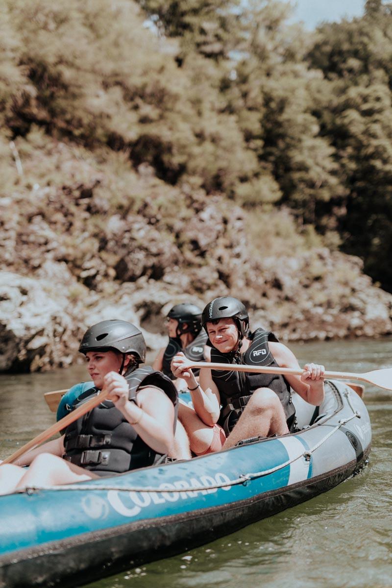 Children Kayaking at the Pelorus River