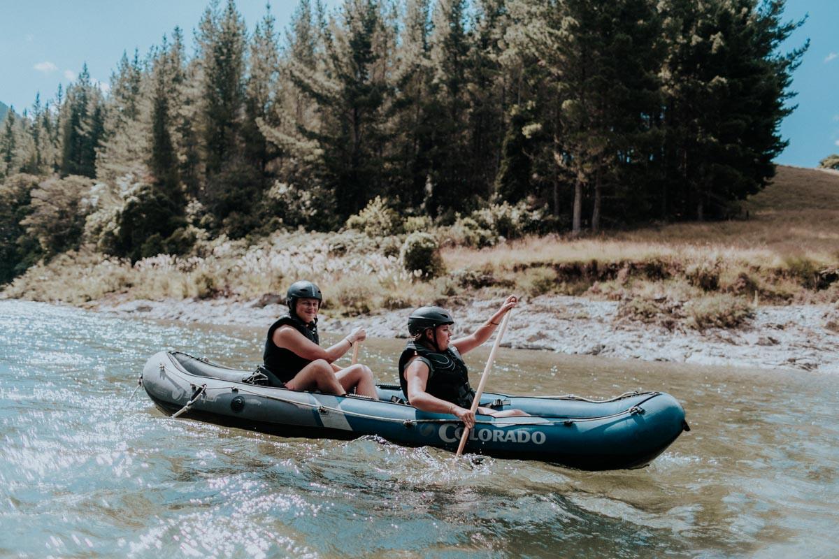 Friends experiencing our Hobbit Kayak Tour