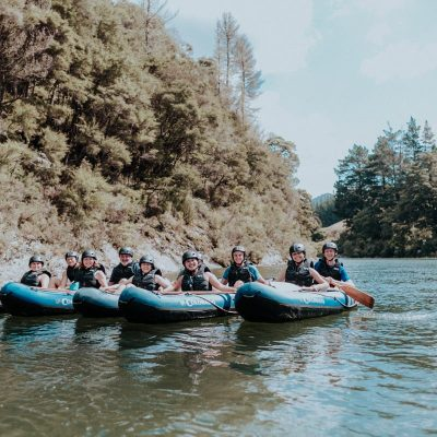 Group posing at the Pelorus River