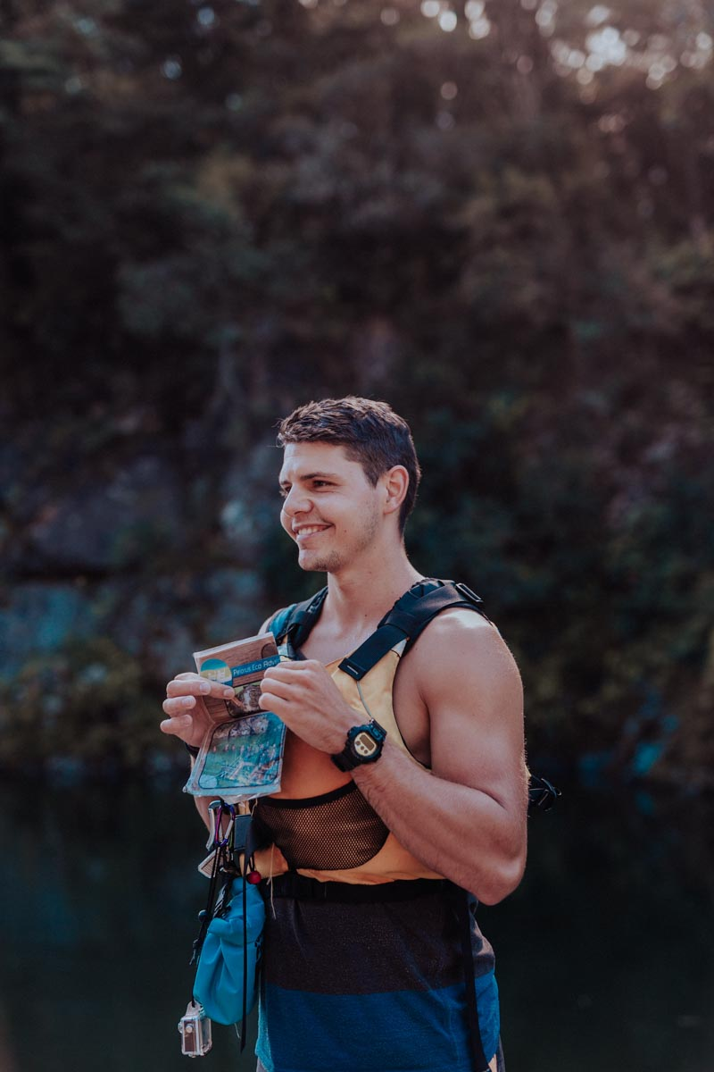 Guide Petr at the Pelorus River