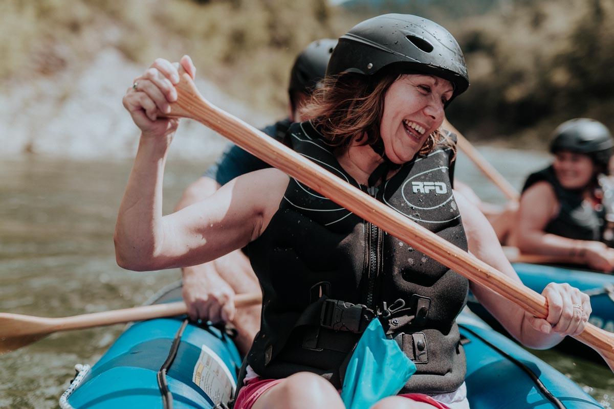 Happy Kayaker in New Zealand