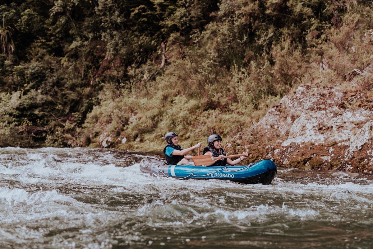 Kayaking rapids at the Pelorus River, Havelock