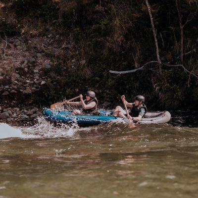 Kayaking rapids at the Pelorus River, NZ