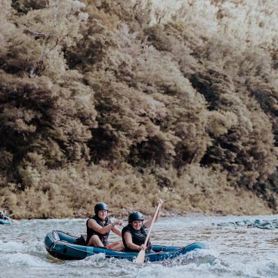Ladies Kayaking the Pelorus River