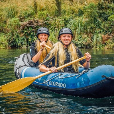 Twin Sisters Kayaking in New Zealand