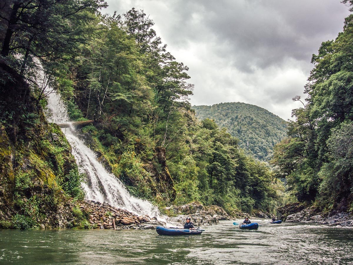 Falls at the Pelorus River, New Zealand