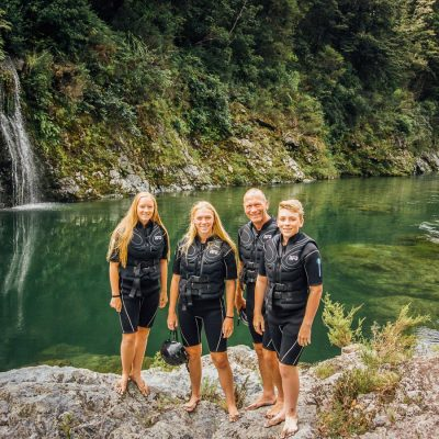 Group of Kayakers at the Pelorus River, NZ