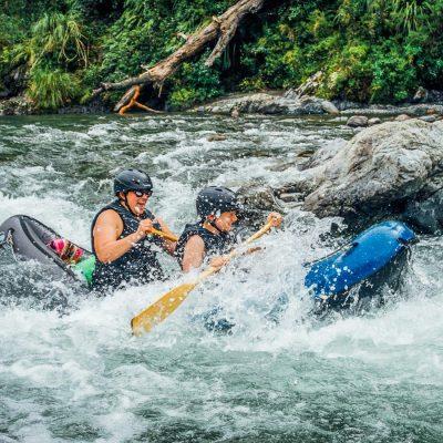 Kayaking Rapids in New Zealand