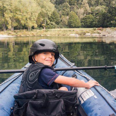 Child Kayaking at the Pelorus River