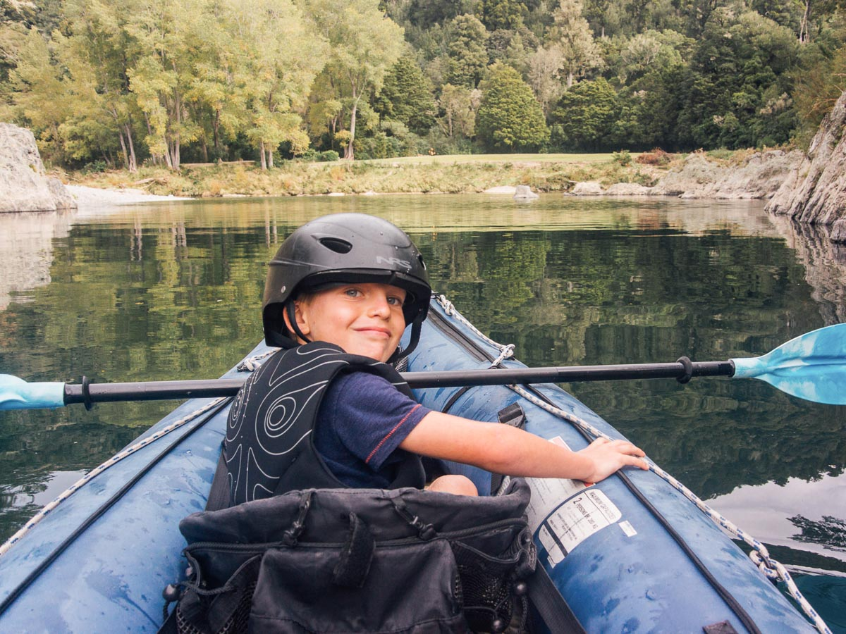 Child Kayaking at the Pelorus River