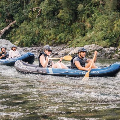 Couple Kayaking at Havelock, New Zealand