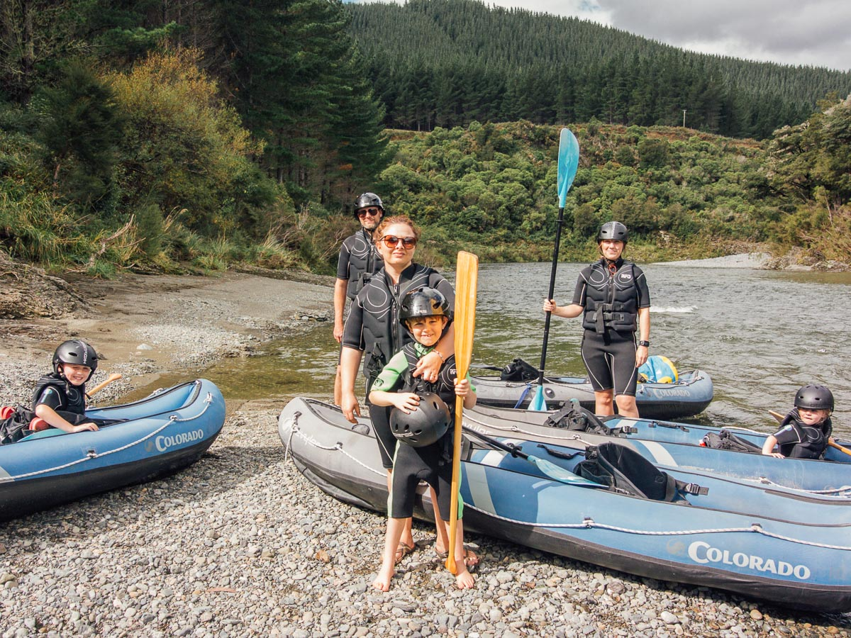 Family at the Pelorus River