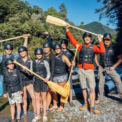 Group Kayakers at the Pelorus River