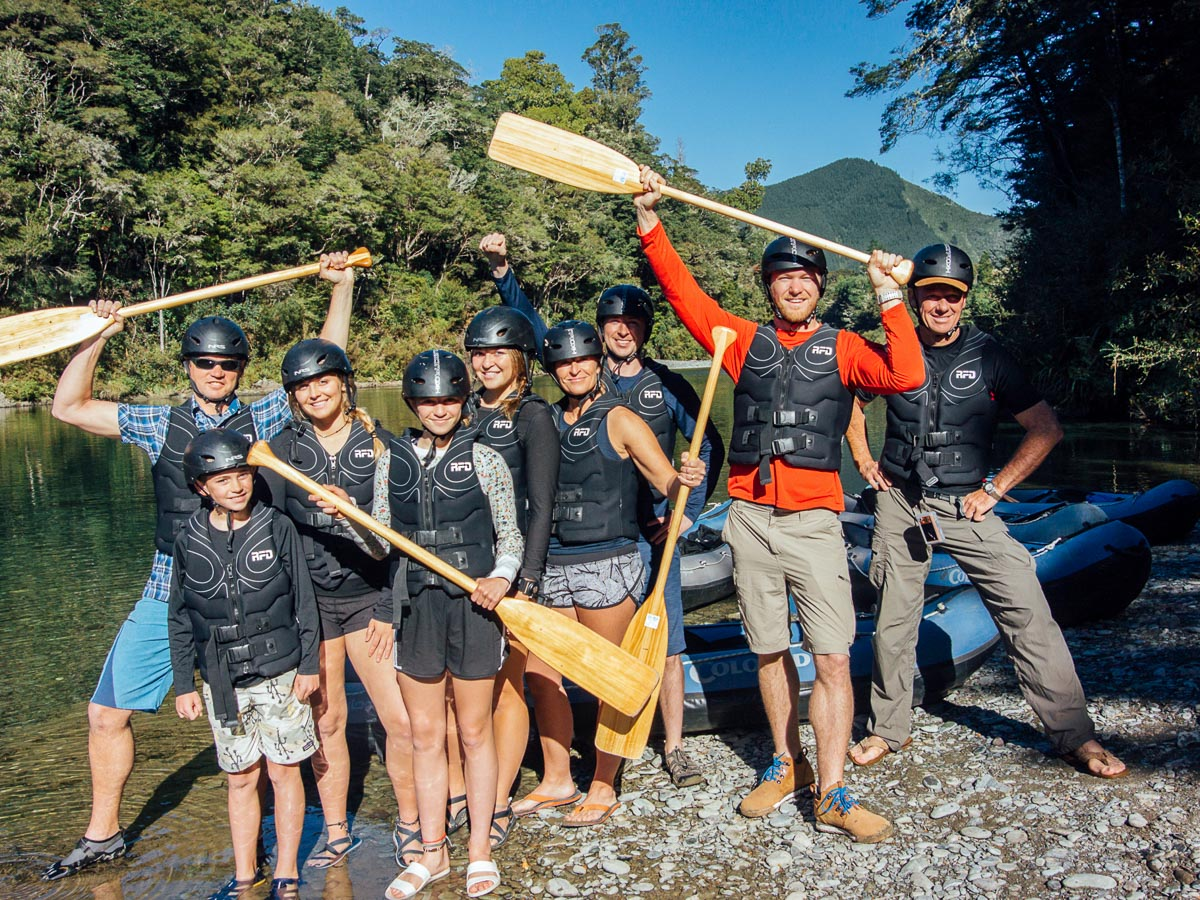 Group Kayakers at the Pelorus River
