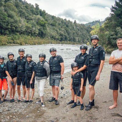 Kayak Group at the Pelorus River, NZ