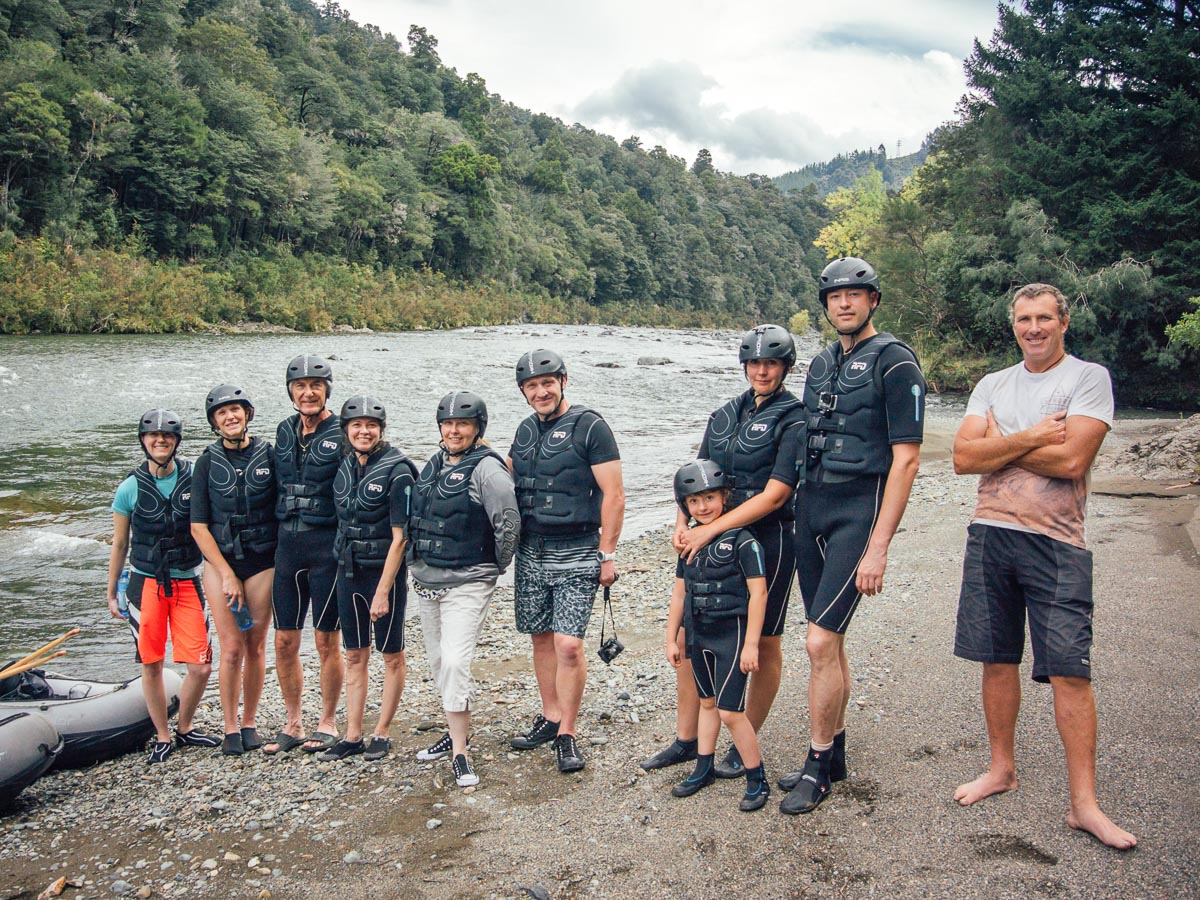 Kayak Group at the Pelorus River, NZ