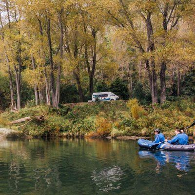 Kayaking at the Pelorus River, Havelock