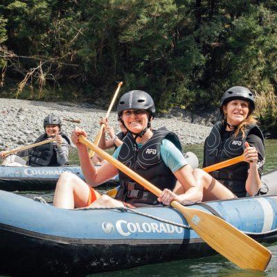 Ladies Kayaking at the Pelorus River