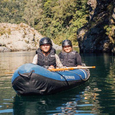 Ladies Kayaking at the Pelorus River, Havelock