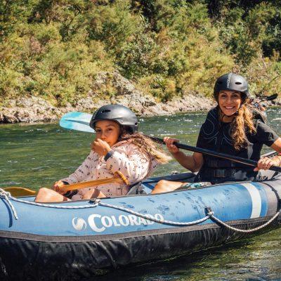 Mum and Daughter Kayaking in NZ