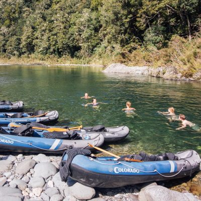 Swim at the Pelorus River, NZ