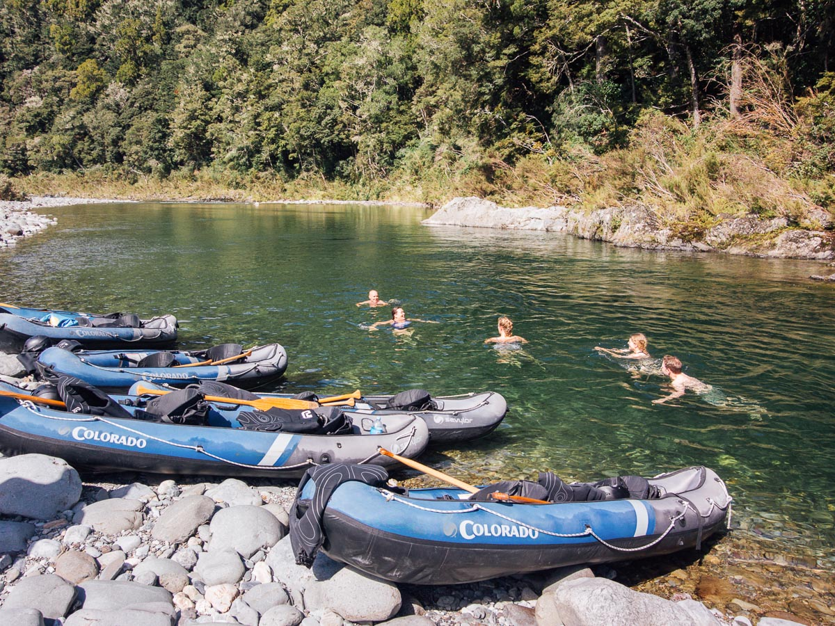 Swim at the Pelorus River, NZ