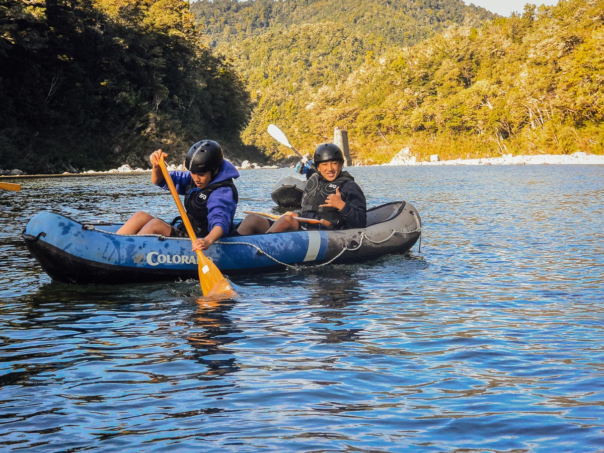 Boys Kayaking the Pelorus River