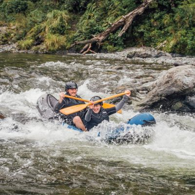 Kayak rapids at the Pelorus river