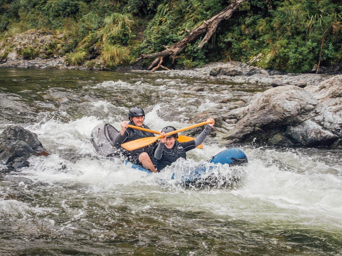 Kayak rapids at the Pelorus river