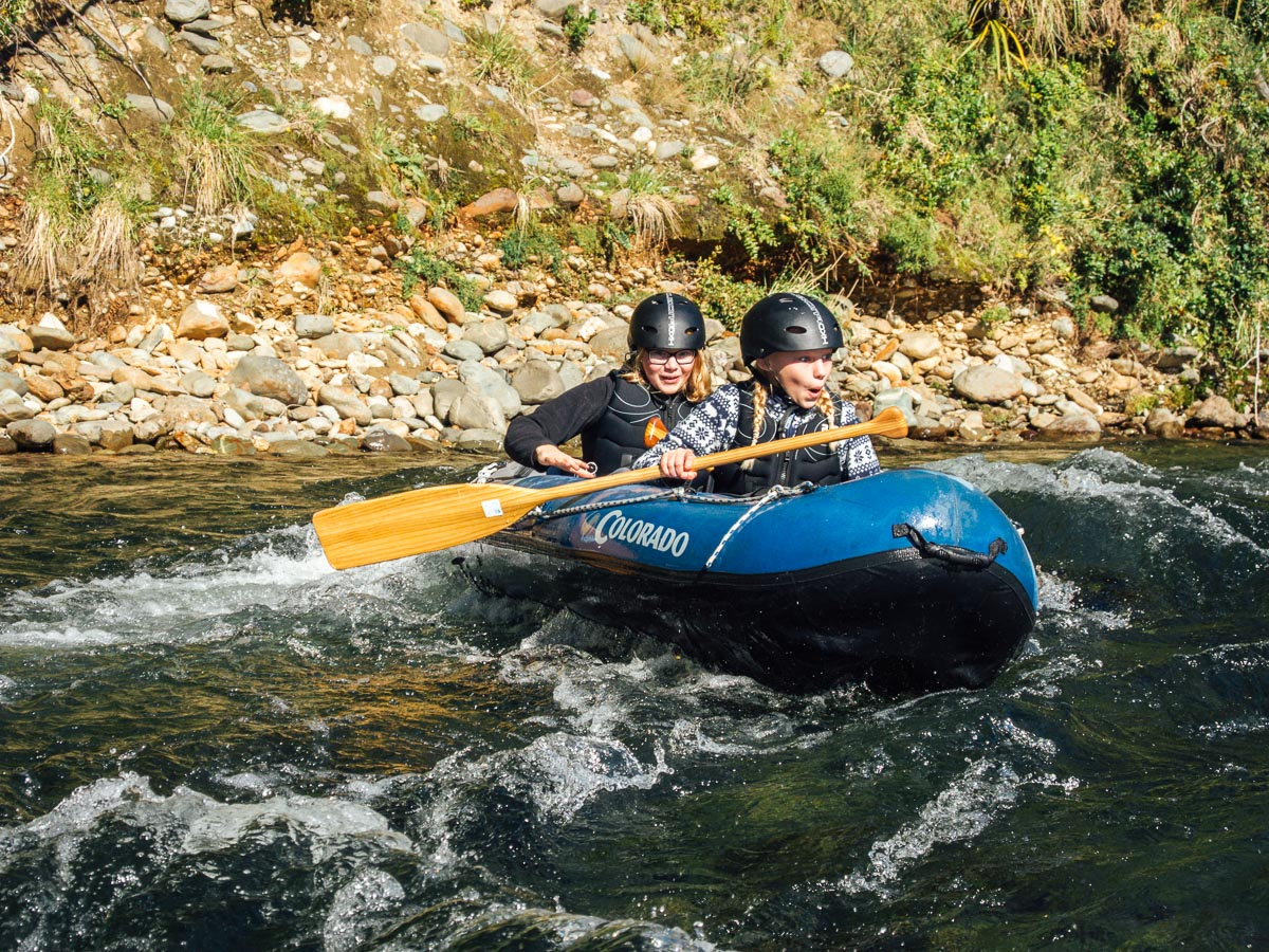 Kayaking tour for kids in New Zealand