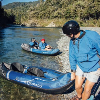 Starting to kayak the Pelorus river