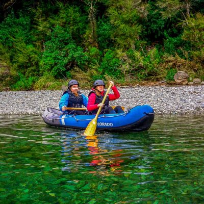 Ladies kayaking in New Zealand