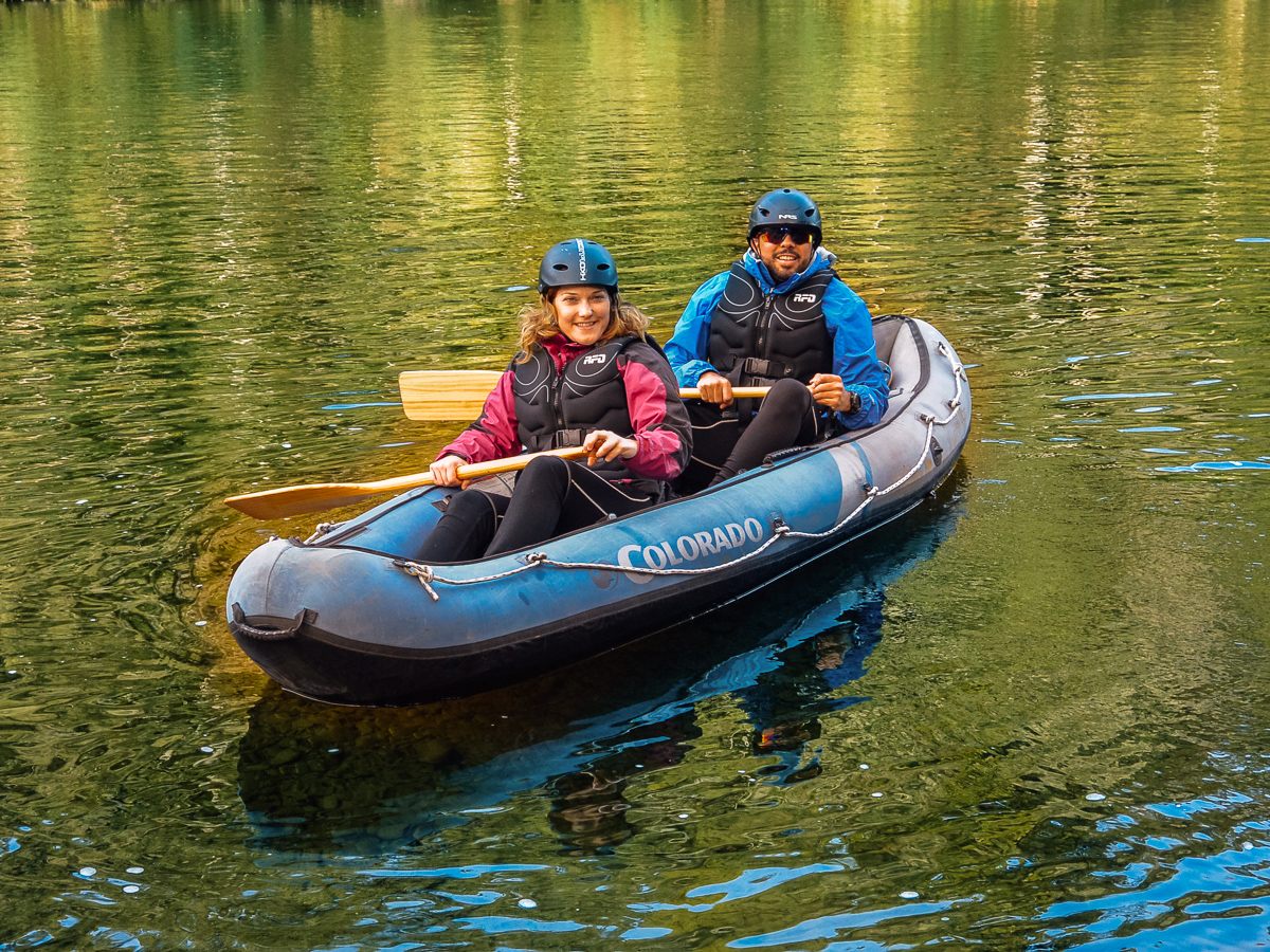 Couple experiencing our Hobbit Kayak Tour in NZ