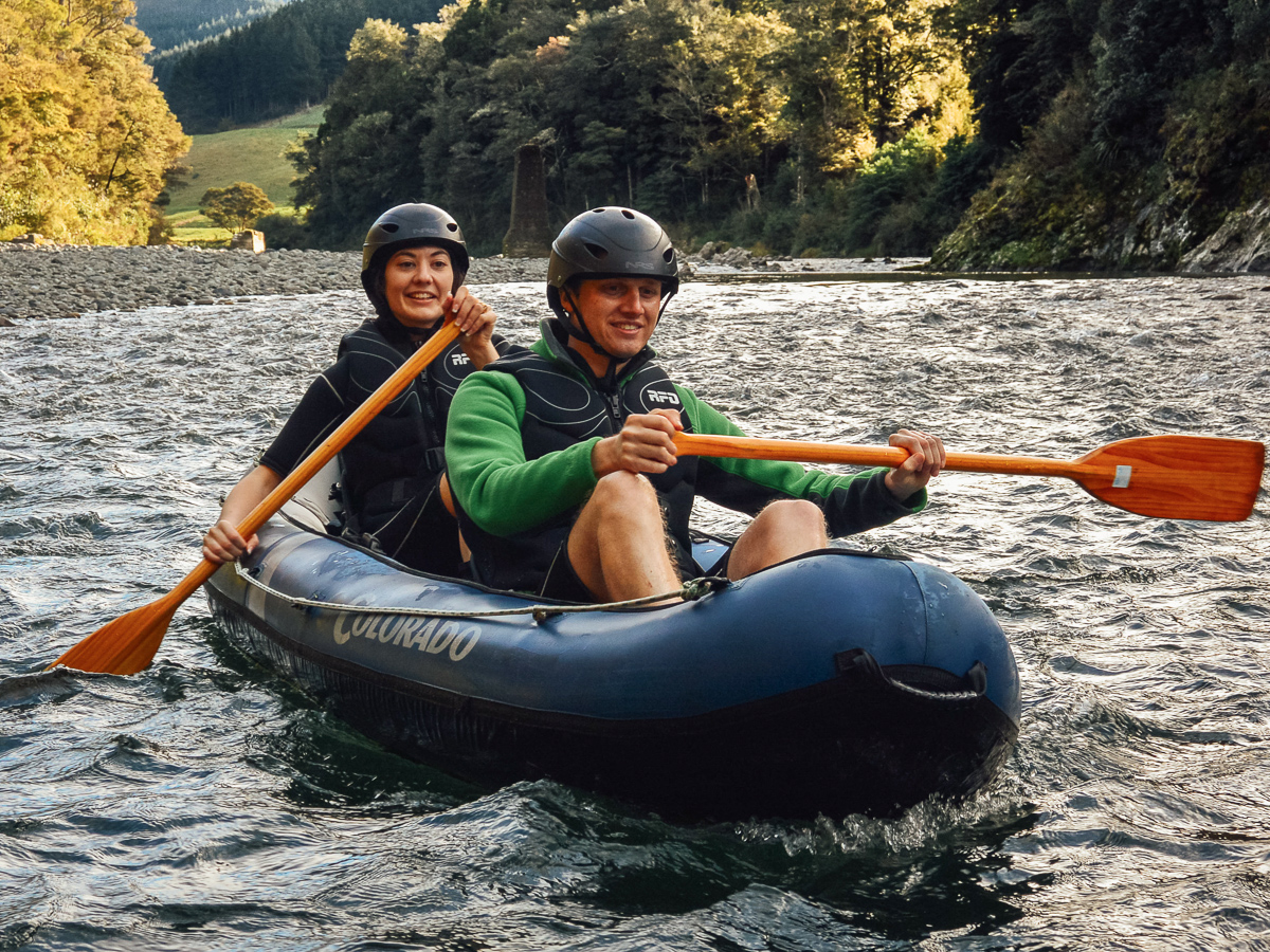Couple having a Kayaking Adventure, New Zealand