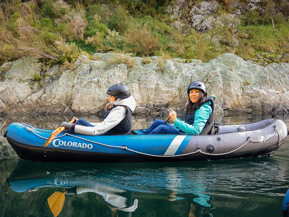 Friends Kayaking in New Zealand