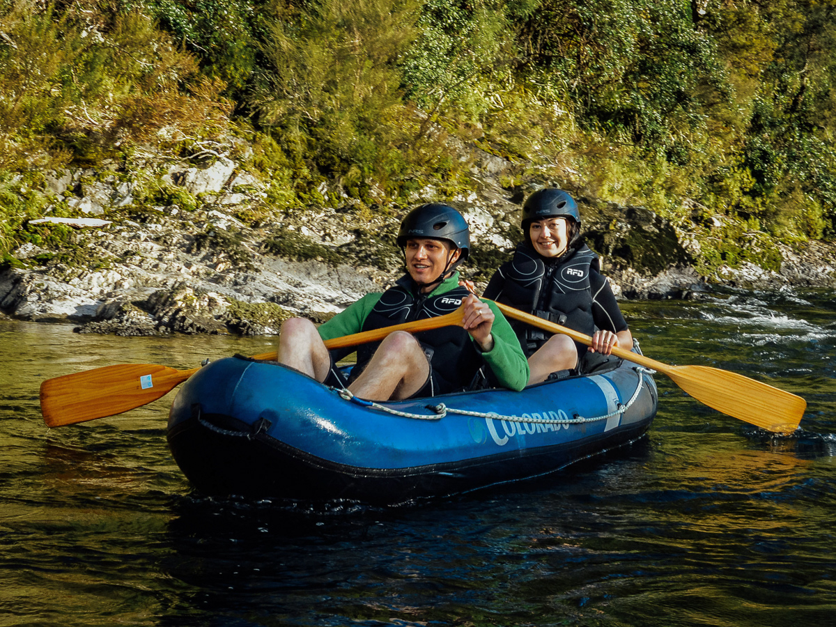 Happy Couple Having a Kayak Tour in NZ