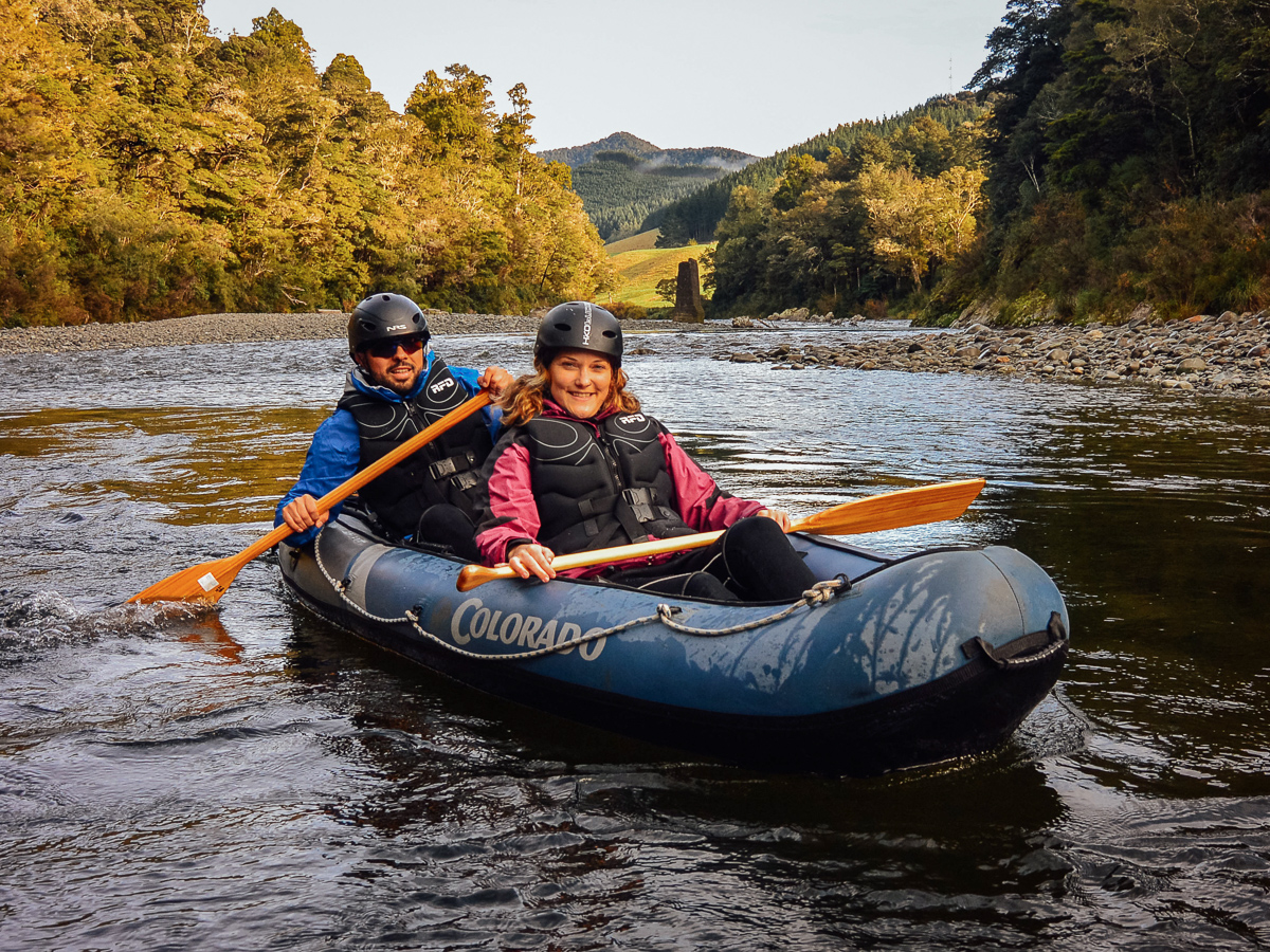 Happy Couple at the Pelorus River