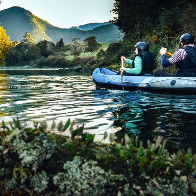 Kayaking at the Pelorus River, New Zealand
