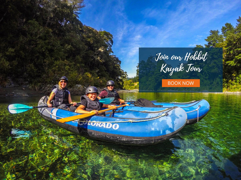Kayak Tour New Zealand Header
